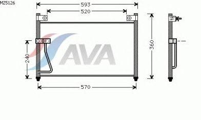 Радиатор кондиционера AVA QUALITY COOLING MZ5126