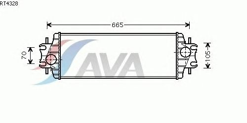 Интеркулер AVA QUALITY COOLING RT4328