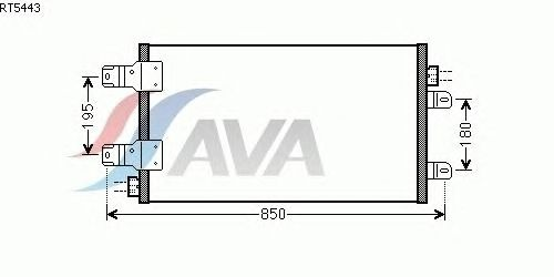 Радиатор кондиционера AVA QUALITY COOLING RT5443