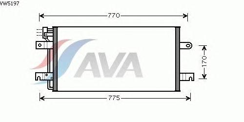 Радиатор кондиционера AVA QUALITY COOLING VW5197