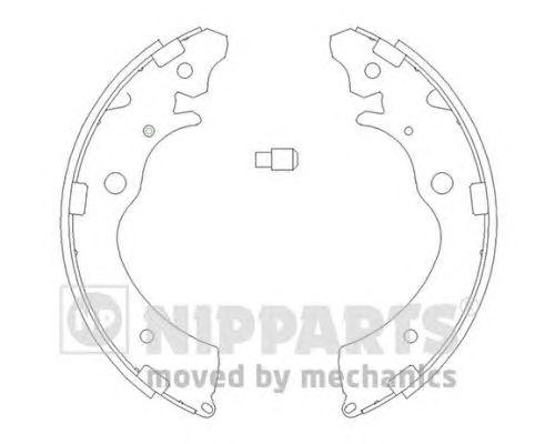 Тормозные колодки NIPPARTS J3504020