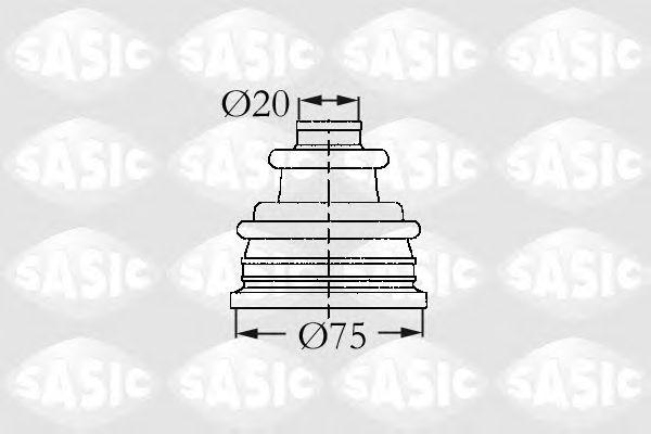 Комплект пыльника ШРУСа SASIC 4003404