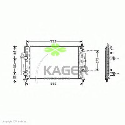Радиатор, охлаждение двигателя KAGER 31-1830