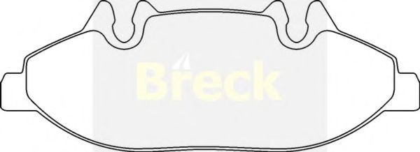 Тормозные колодки BRECK 24007 00 703 00