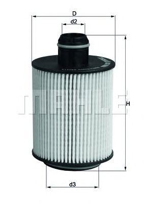 Масляный фильтр MAHLE ORIGINAL OX 553D