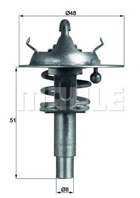 Термостат MAHLE ORIGINAL TX 106 90D