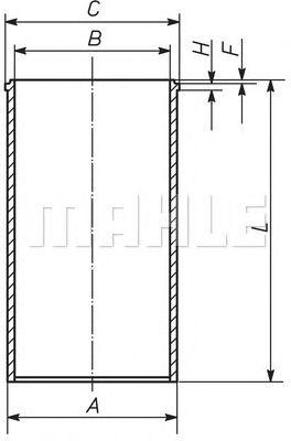 Гильза цилиндра MAHLE ORIGINAL 213 WT 02