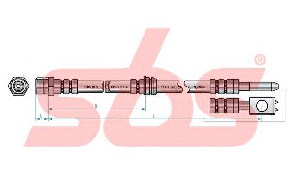Тормозной шланг sbs 13308547130