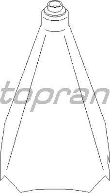 Обшивка рычага переключения TOPRAN 110 903