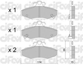 Тормозные колодки CIFAM 822-520-0