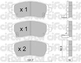 Тормозные колодки CIFAM 822-750-0