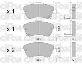 Тормозные колодки CIFAM 822-794-0