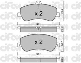 Тормозные колодки CIFAM 822-825-0