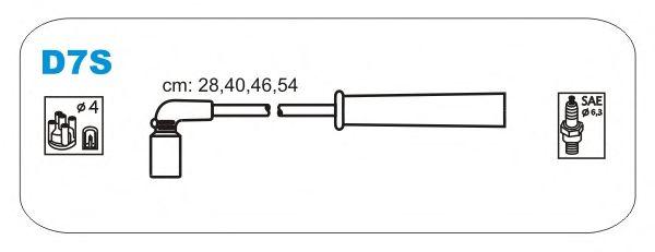Комплект высоковольтных проводов JANMOR D7S