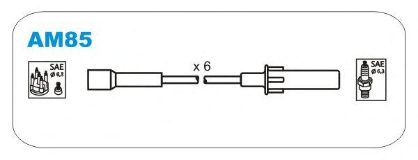 Комплект высоковольтных проводов JANMOR AM85