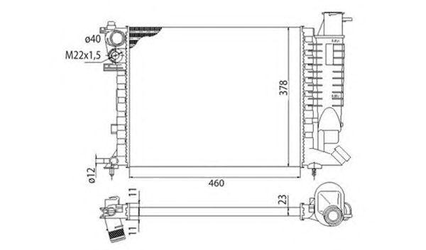 Радиатор, охлаждение двигателя MAGNETI MARELLI 350213373003