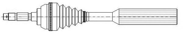 Приводной вал METELLI 17-0381