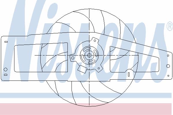 Вентилятор охлаждения NISSENS 85498