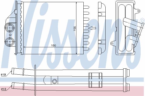 Радиатор отопителя NISSENS 71453