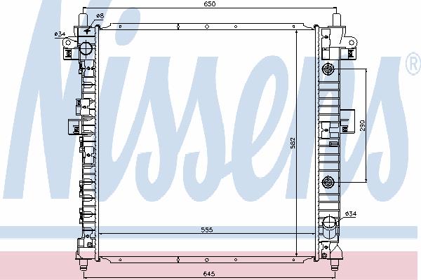Радиатор, охлаждение двигателя NISSENS 64316
