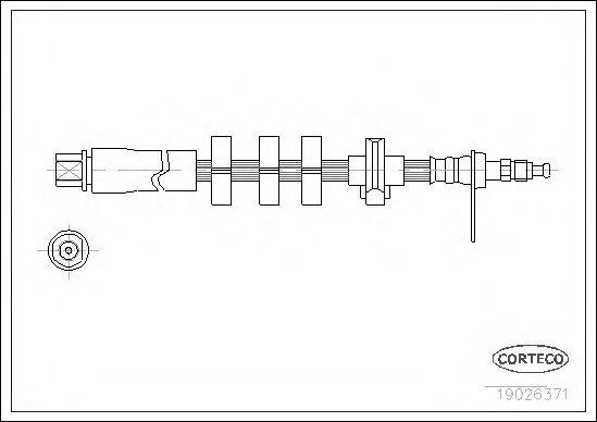 Тормозной шланг CORTECO 19026371