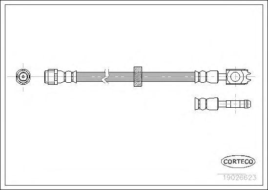 Тормозной шланг CORTECO 19026623