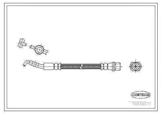 Тормозной шланг CORTECO 19033077