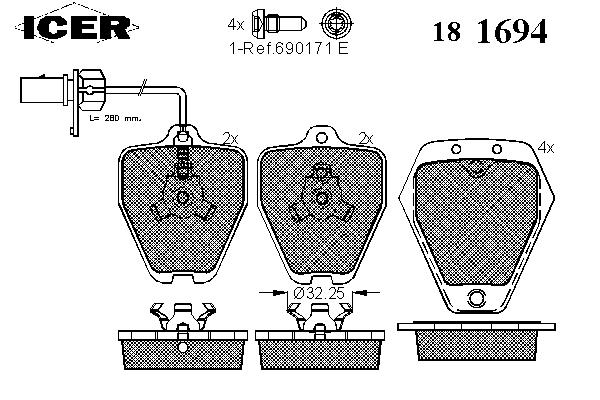 Тормозные колодки ICER 181694