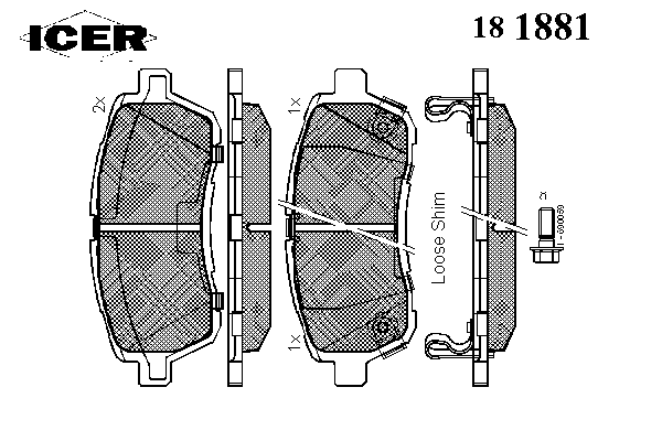 Тормозные колодки ICER 181881