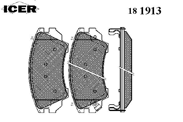Тормозные колодки ICER 181913