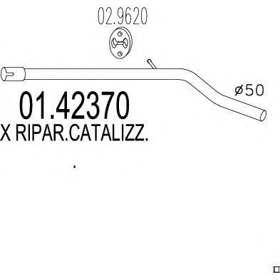 Труба выхлопного газа MTS 01.42370