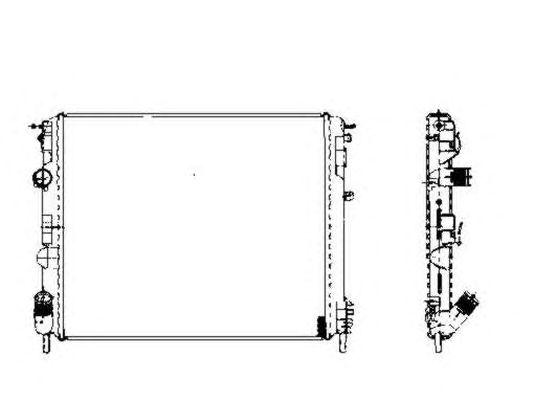 Радиатор, охлаждение двигателя NRF 58217