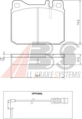 Тормозные колодки A.B.S. 36418