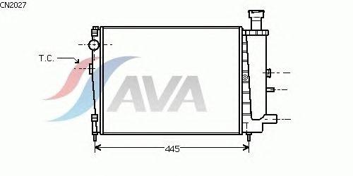 Радиатор, охлаждение двигателя AVA QUALITY COOLING CN2027
