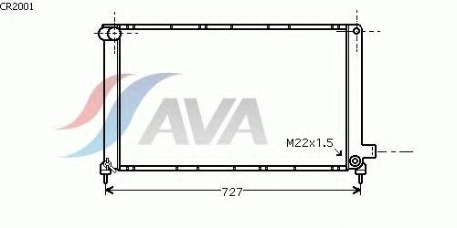 Радиатор, охлаждение двигателя AVA QUALITY COOLING CR2001