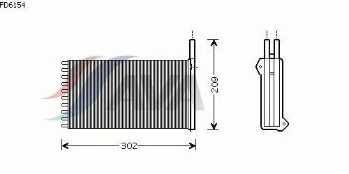 Радиатор отопителя AVA QUALITY COOLING FD6154