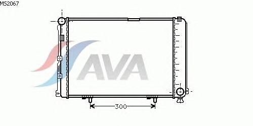Радиатор, охлаждение двигателя AVA QUALITY COOLING MS2067