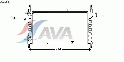 Радиатор, охлаждение двигателя AVA QUALITY COOLING OL2063