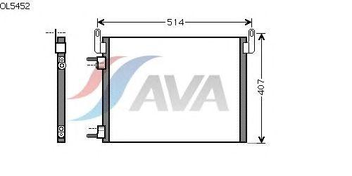 Радиатор кондиционера AVA QUALITY COOLING OL5452
