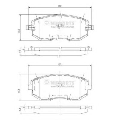 Тормозные колодки NIPPARTS J3607015