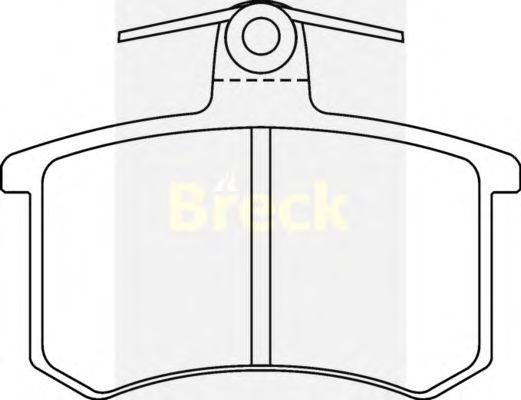 Тормозные колодки BRECK 21144 00 704 00