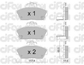 Тормозные колодки CIFAM 822-119-0