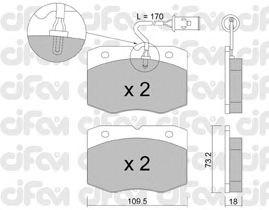Тормозные колодки CIFAM 822-139-0