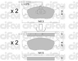 Тормозные колодки CIFAM 822-156-0