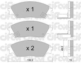 Тормозные колодки CIFAM 822-236-1