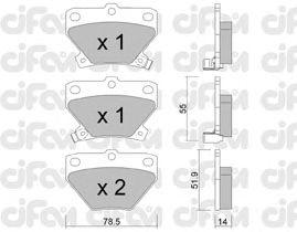 Тормозные колодки CIFAM 822-424-0