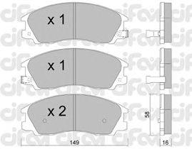 Тормозные колодки CIFAM 822-506-0