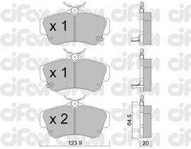 Тормозные колодки CIFAM 822-521-0