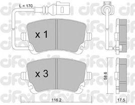 Тормозные колодки CIFAM 822-554-0