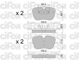 Тормозные колодки CIFAM 822-675-3